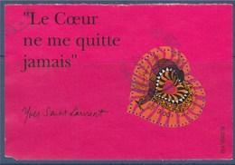 = Le Cœur Saint Valentin 2000 Du Couturier Yves Saint Laurent Oblitéré Partie Du Bloc (BF27) Avec Texte - Variedades Y Curiosidades