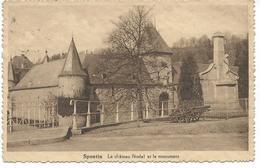 Spontin Le Château Féodal Et Le Monument - Yvoir