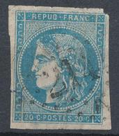 N°45 VARIETE  GRIFFES DEVANT VISAGE ET CHEVEUX - 1870 Bordeaux Printing