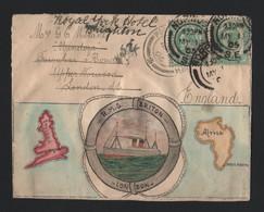 SOUTH AFRICA HAND ILLUSTRATED PORT ELIZABETH 1905 NORWOOD MAP - Afrique Du Sud