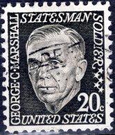 USA 1965 Prominent Americans - 20c. George C. Marshall FU - Gebraucht