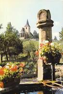 68 - La Fontaine Sainte Hunne Et L'Eglise Fortifiée De Hunawihr - Ed. RIBO N° 553/68 (plan Collé Au Dos) - France
