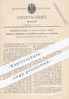 Original Patent - Hermann Buchelt , M. M. Rotten , Berlin , 1886 , Nähmaschine   Nähmaschinen , Nähen , Schneider !!! - Historical Documents