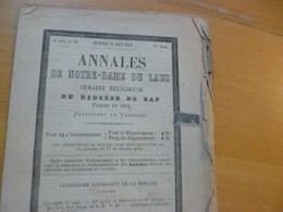 Religion Annales De Notre Dame Du Laus Haute Alpes 23/08/1899 N°94 - Alpes - Pays-de-Savoie