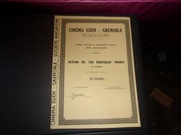Cinéma Eden - Grenoble  (isère) - Shareholdings