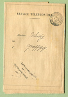 "GRAFFIGNY-CHEMIN  (52) :  "" SERVICE TELEPHONIQUE ""  1920 - Marcophilie (Lettres)"