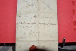 2 LETTRES UNE PERIODE 18ÉME ET UNE PERIODE REVOLUTIONNAIRE 1734  LIMOGES - Postmark Collection (Covers)