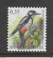 TIMBRE NEUF DE BELGIQUE - OISEAU DE BUZIN : PIC EPEICHE N° Y&T 3158 - Climbing Birds