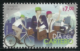 2016 MÉXICO DÍA DEL CARTERO MNH, MAILMAN DAY, MAIL CARRIERS-BICYCLE-MOTORCYCLE - Mexico