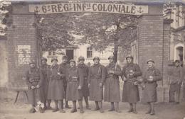 Carte Postale Photo Militaire 6 Regiment D'infanterie Coloniale - Photos