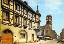 68 KAYSERSBERG - Maison à Tourelle 1739, Plus Loin L'église Romane - Kaysersberg