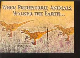 MICRONESIA  619 MINT NEVER HINGED SOUVENIR SHEET OF DINOSAURS   #   314-5 ( - Prehistorics