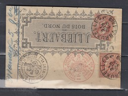 Briefstukje Bruxelles 7 Bois Du Nord - 1884-1891 Leopold II