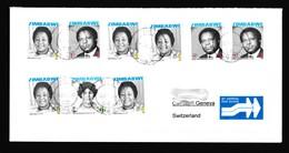 Zimbabwe Cover With 2008 Heroes / Hatfield Postmark (Simbabwe) / Inflation Period / Red Cross - Zimbabwe (1980-...)