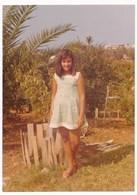 REAL PHOTO,  Cute Kid Girl In Garden, Fillette  Photo ORIGINAL - Photographs