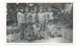 REAL PHOTO,  Group Cute Kid Girls In Park, Fillettes  Photo ORIGINAL - Photographs