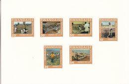 Rwanda - 7 épreuves De Couleur Série 698/703 De 1975 - Année De La Production - Tracteurs - Industrie - Rwanda