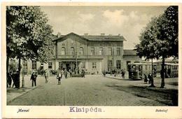 CPA Lituanie Lithuanie Lituania Circulé MEMEL Gare Chemin De Fer Station Klaipéda - Lithuania