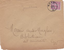 Briefomslag Obp 46 Aan Vanderhaeghen, Ferdinand Universiteitsbibliothecaris GENT. - Entiers Postaux
