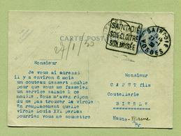 """Sc R1a : """" SAINT-DIE """"  1930  Oblitération DAGUIN - Entiers Postaux"""