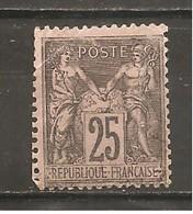 Francia-France Nº Yvert 97 (usado) (o) (pliegue) - 1876-1898 Sage (Type II)