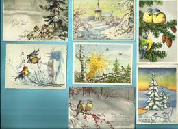 """-  **  12 X Wenskaartje ( Zweedse) """"""""  GOD JULL ,  GOTT NYTT AR    -Vrolijk Kerstfeest ,Gelukkig  Nieuwjaar  * - Otros"""