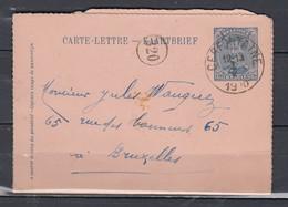 Kaartbrief Van Cerfontaine Naar Bruxelles - 1915-1920 Albert I