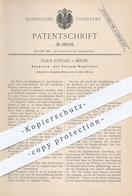 Original Patent - Julius Schülke , Berlin , 1886 , Gasdruck - Regulator | Gas - Regulatoren | Brenner , Licht !! - Historische Dokumente