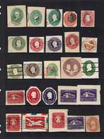 USA...very Old Cut Envelope Squares...mixed Condition - Stamps