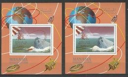 MANAMA - MNH - Space - Apollo 9 - 10 - Overprint - Space