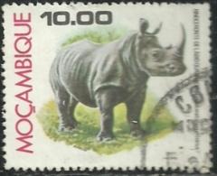 Mozambique Moçambique 1977 Animals From Mozambique - Rhinoceros Canc - Rhinozerosse