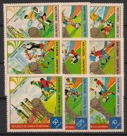 Guinée  équatoriale - 1974 - N°Mi. 337 à 345 - Football WM 74 - Neuf Luxe ** / MNH / Postfrisch - Equatorial Guinea