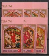 Guinée  équatoriale - 1974 - N°Mi. A347 à A353 - Pâques - Neuf Luxe ** / MNH / Postfrisch - Equatorial Guinea