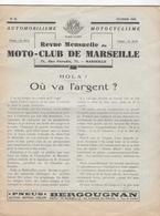13 - MARSEILLE  -  Revue Moto-club De Marseille  - 1932 - Automobiliste - Motocycliste - - Other