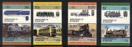 A35 - Grenadines Of St Vincent - 1985 - SG 412/419 - Railways Locomotives - Eisenbahnen