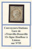Y&T N°55- Convoyeurs Stations Gare De Trouville-Deauville 13 - 1871-1875 Ceres