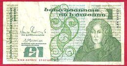 Irlande, 1 Pound, 1989, B+ - Ireland