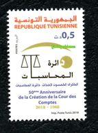 2018- Tunisie- 50ème Anniversaire De La Création De La Cour Des Comptes- Emission Complète 1v.MNH** - Tunisia