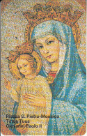 VATICAN - Madonna Con Bambino, Piazza S.Pietro/Mosaico(27), Tirage 23900, Exp.date 01/01/99, Mint - Vatican