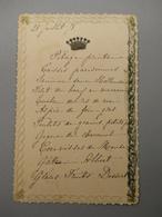 MENU DE 1878 - Menus