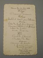 MENU DE 1882 - Menus