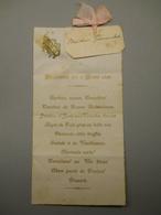 MENU Du 6 AOUT 1895 - Menus
