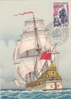 Carte-Maximum FRANCE N° Yvert 1461 (ILE BOURBON) Obl Sp Ill Salon De La Marine (Ed BD 11.99B) - 1960-69