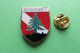 Pin's, Ville, Blason, CHARMEY, Suisse, Wappen, Sapin - Cities