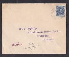 Venezuela: Cover To Netherlands, 1929, 1 Stamp, Bolivar (minor Damage, See Scan) - Venezuela
