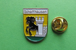 Pin's, Ville, Blason, SCHAFFHAUSEN, Suisse, Wappen, Mouton - Cities