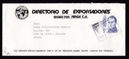 Venezuela: Cover To Netherlands, 1 Stamp, Bolivar (traces Of Use) - Venezuela