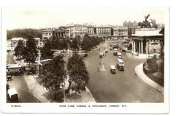 Inghilterra London Londra Hyde Park Corner & Piccadilly Viaggiata 1952 - Piccadilly Circus