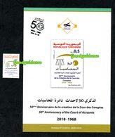 2018- Tunisie- 50ème Anniversaire De La Création De La Cour Des Comptes- Dupliant + 1v.MNH** - Tunisia