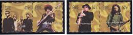 Ireland 2002 MNH Scott #1435-#1438 Set Of 4 U2, Phil Lynott, Van Morrison, Rory Gallager Musicians - 1949-... République D'Irlande